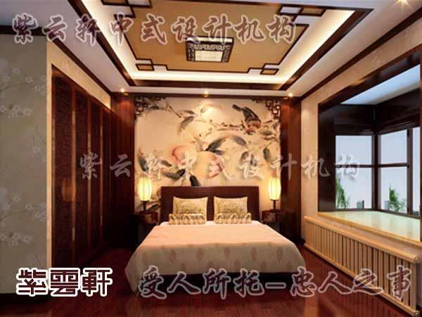 中式臥室效果圖