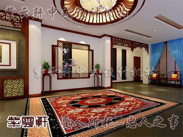 古典中式室内设计装修 从门厅之处看大家风范