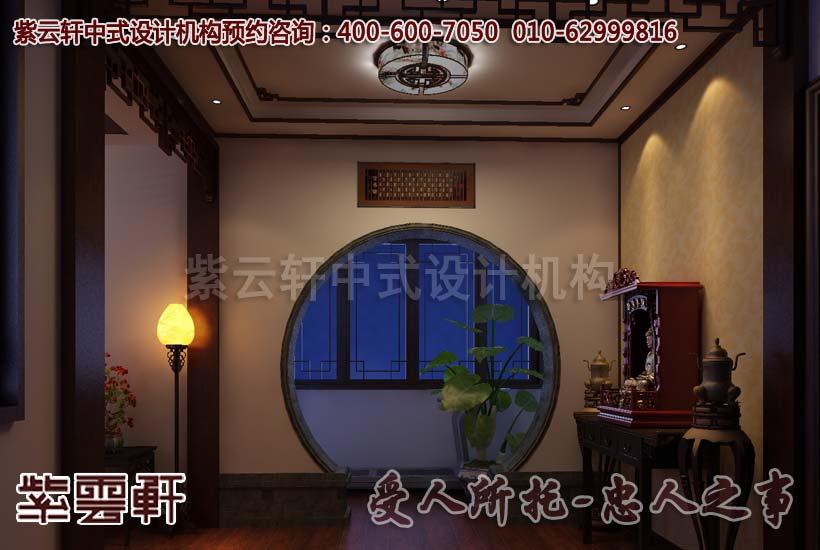 古典中式别墅走道设计装修效果图