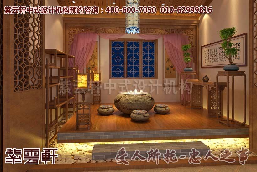 现代中式别墅茶室设计装修效果图