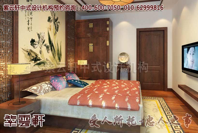 新中式风格别墅老人房设计装修效果图