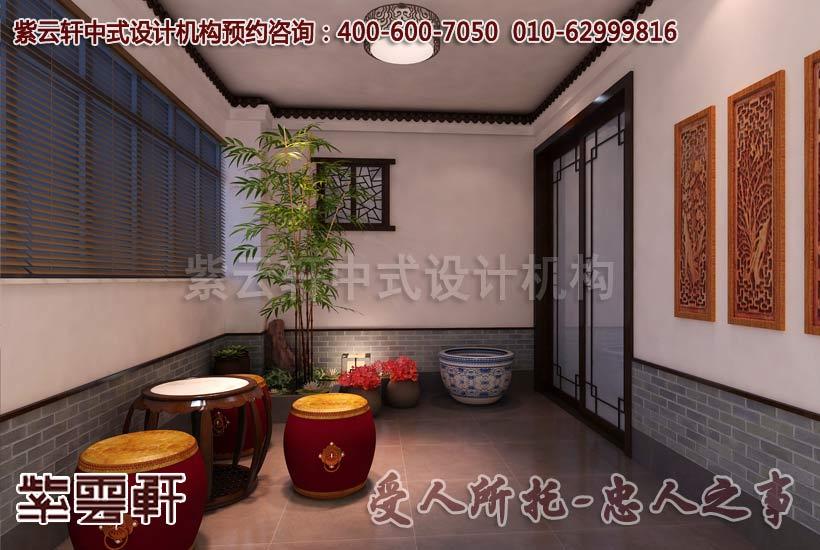 中式风格家装门厅设计装修效果图