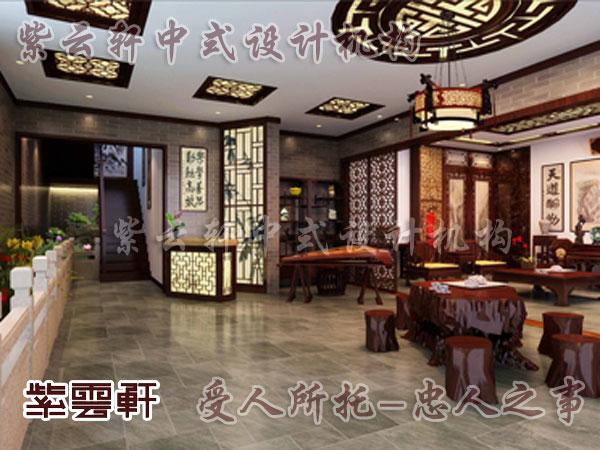 中式别墅休闲室装修效果图