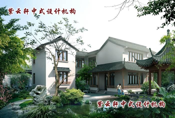 中式别墅装修庭园完全模仿纯天然的野趣美