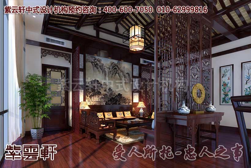 中式茶楼设计装修 东篱菊黄清茶香