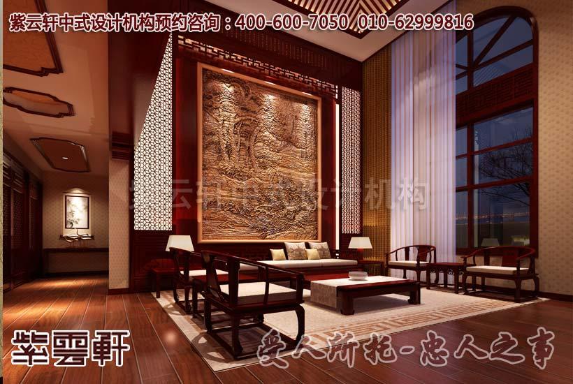 简约古典复式客厅设计装修效果图