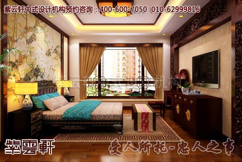 简约古典平层卧室设计装修效果图