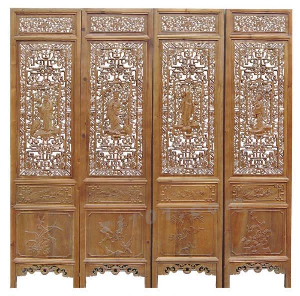 中式古典装修屏风是室内不可少的装饰品