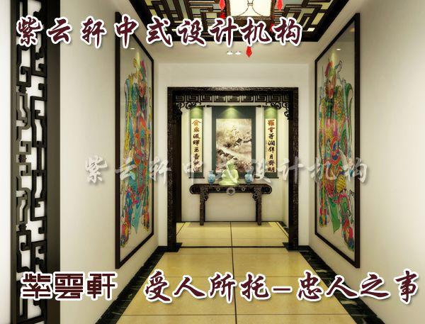 中式过道玄关效果图; 中式装修木地板清漆饰面非常重要的一个环节