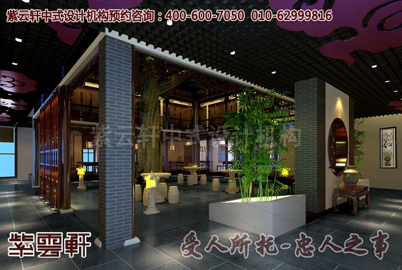 中式酒店餐饮会所设计装修效果图
