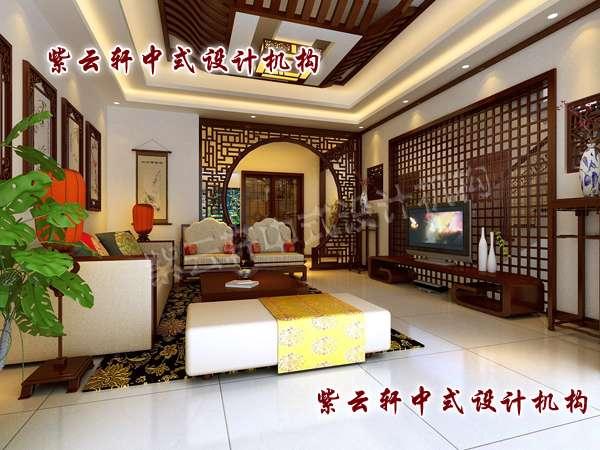中式装修红木家具客厅效果图