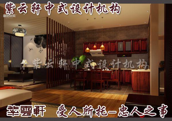 新中式别墅装修厨房设计出不一样的风景