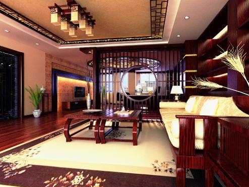 中式办公室装修效果图