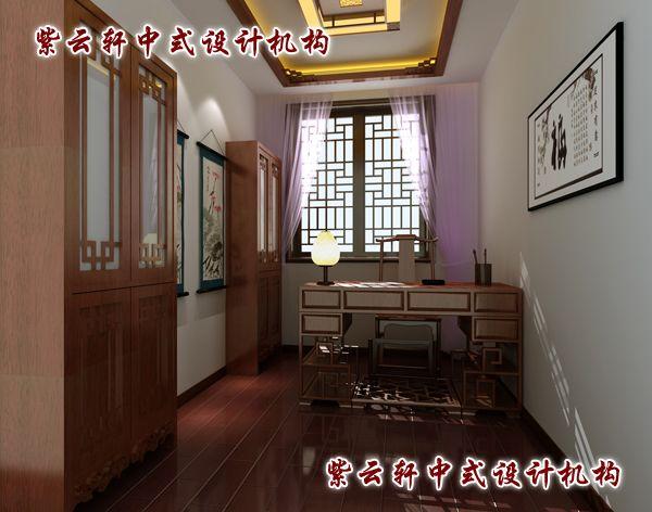 客厅窗边书架效果图