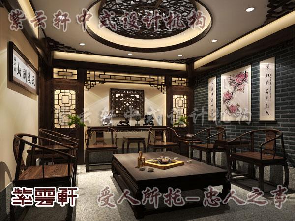 中式风格设计配上现代软布装饰演绎别有韵味