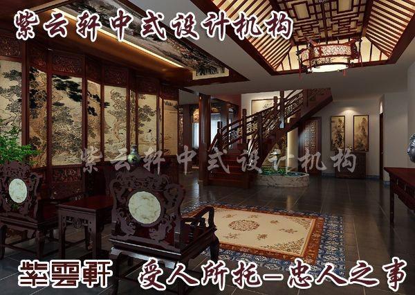 中式风格设计电视地柜上面更点缀出一种典雅