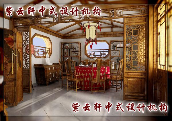 中式餐厅装修风水无法聚气不利於住宅的气运
