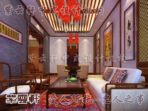 古典客厅灯红木