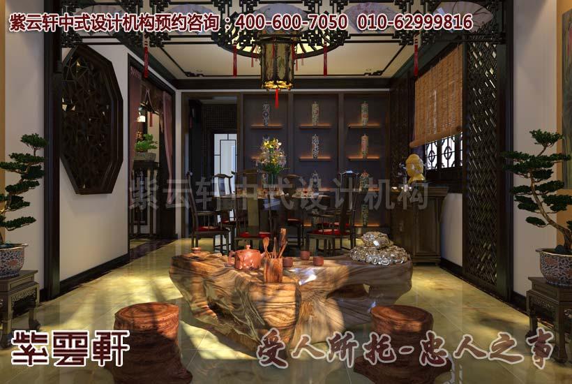 古典中式别墅设计餐厅装修效果图
