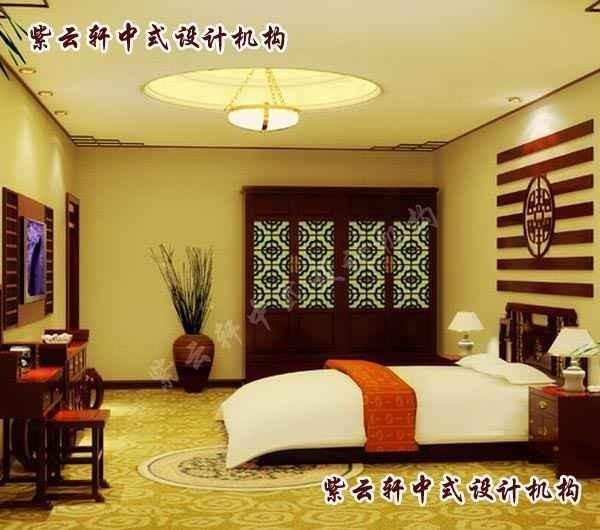 中式设计卧室效果图