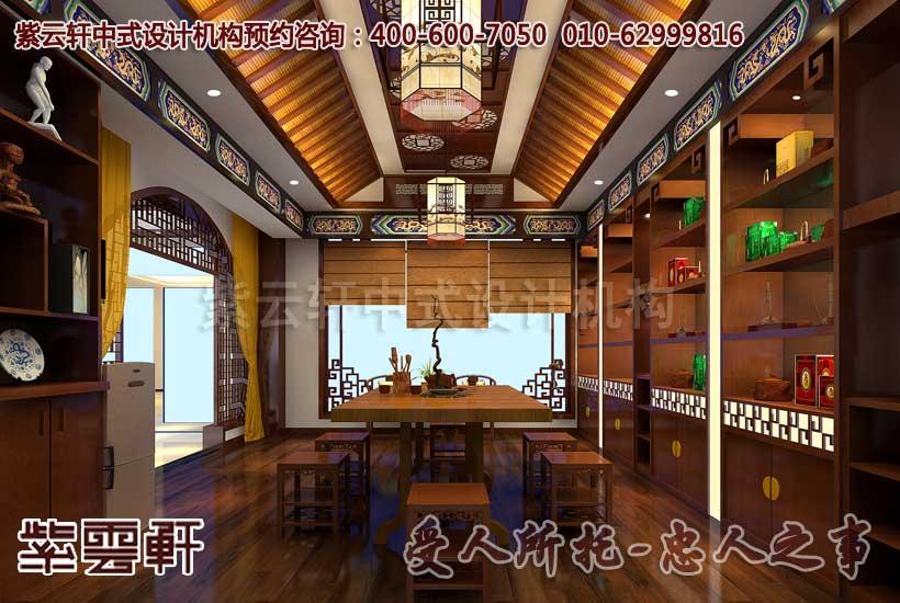 中式茶馆茶室设计装修效果图