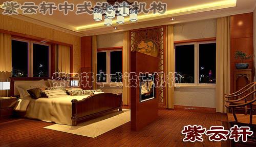 中式风格装修卧室效果图