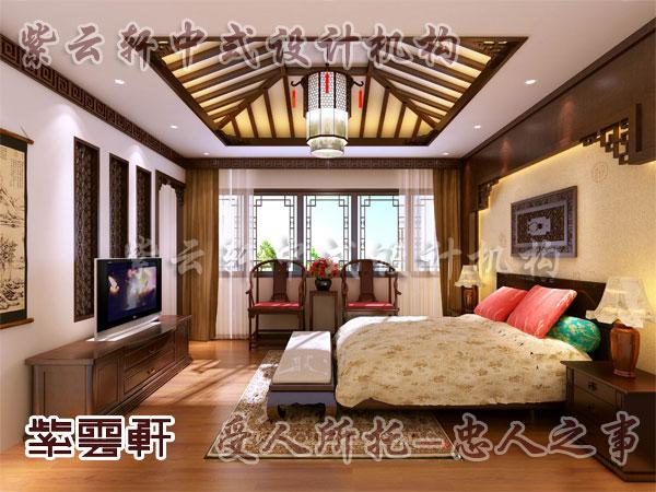 设计卧室效果图; 中式风格装修样式中的古典的家具