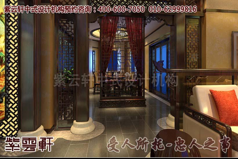 中式会所休闲区设计装修效果图