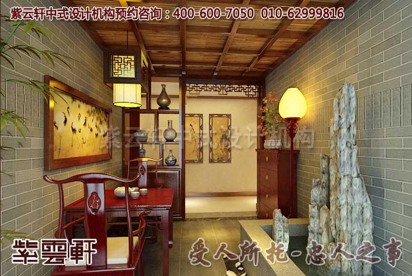 中式家庭住宅阳台设计装修效果图 博古架装修效果图