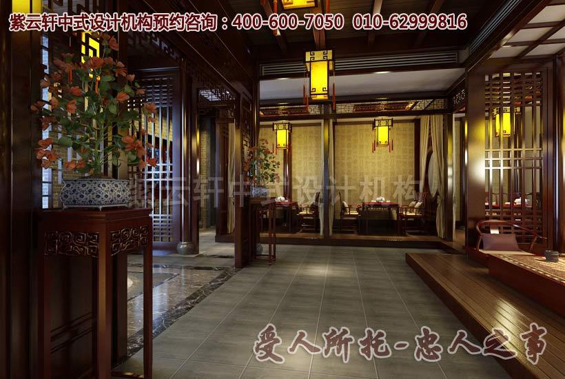 茶楼一层中式装修图片三
