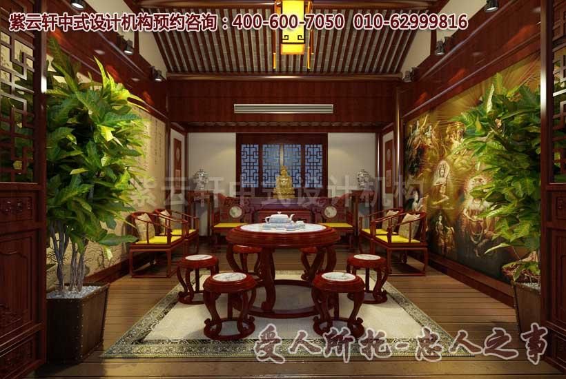 茶楼二楼包间中式装修图片