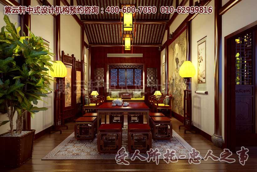 茶楼二楼包间中式装修图片二