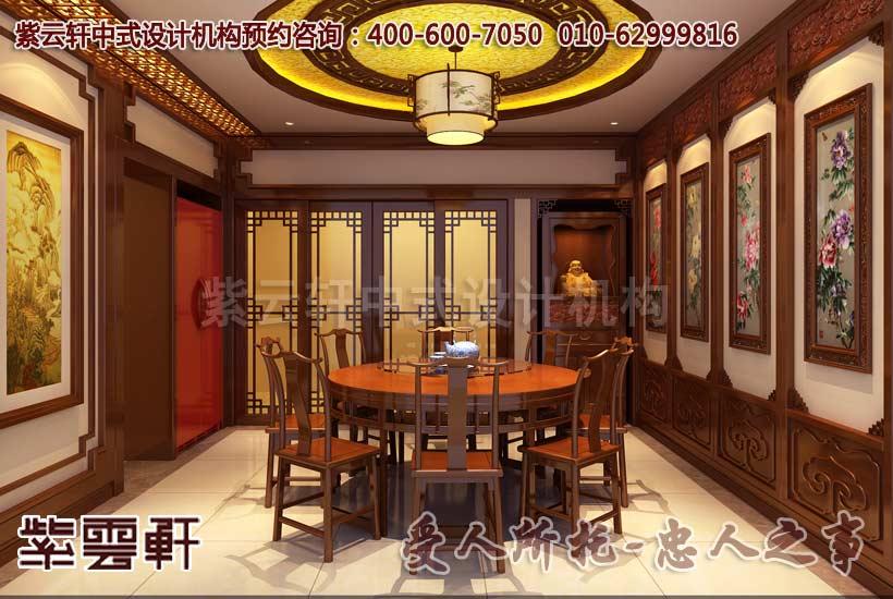 餐厅仿古风格设计,追求的团圆