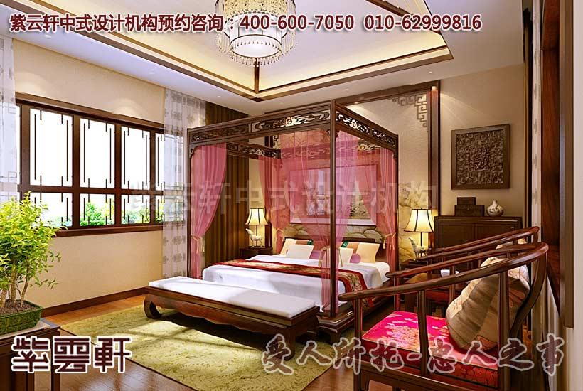 别墅卧室中式装修图片