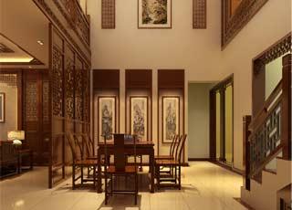 简约中式广州别墅古朴雅致中的传统风情