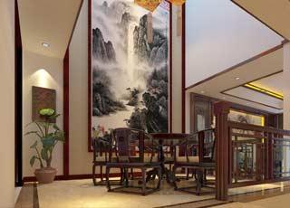 现代中式上海别墅装修,富丽中古韵悠悠