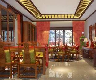 古典简约别墅中式装饰案例--金华柳烟袅袅的红粉柔情