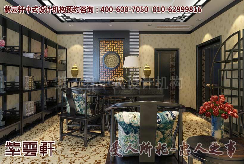 古典风格上海森蓝办公室中式装修案例欣赏