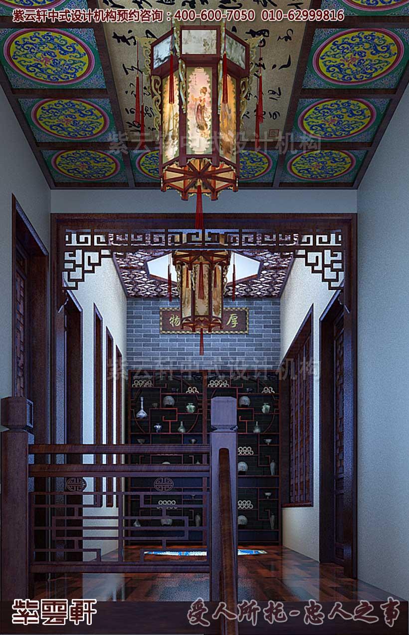 别墅中式装修效果图 - 楼梯