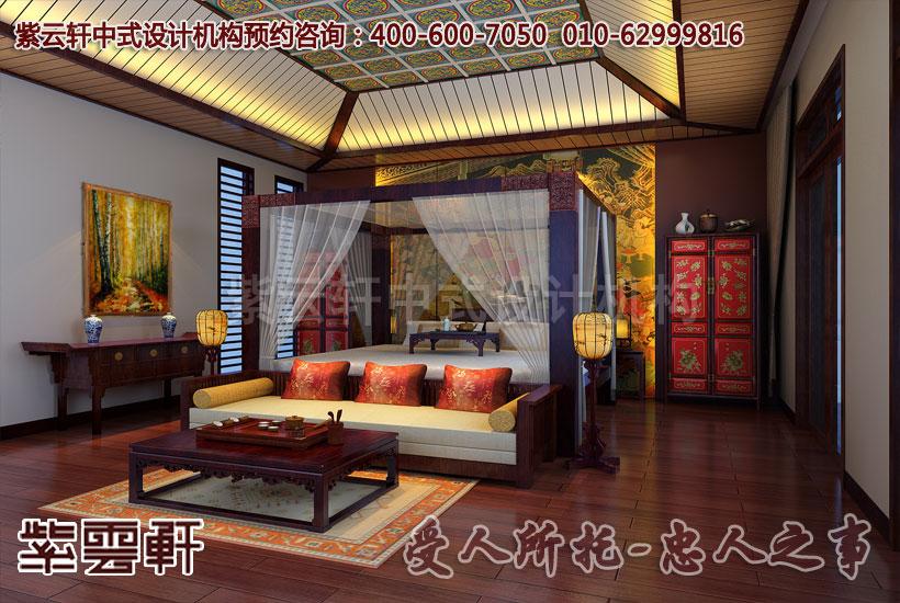 中式设计装饰的古典风格卧室 灵动感十足