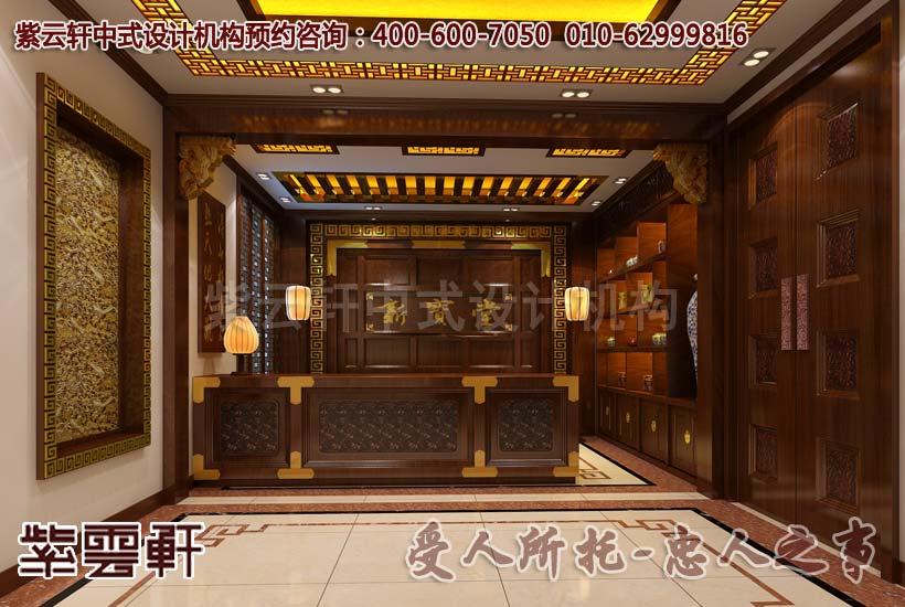 中式工装设计店面展厅案例--荡漾着幽深