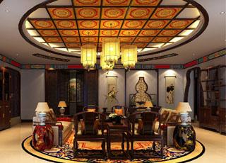 中式风格办公室装修设计案例--穿过岁月的放松舒适空间