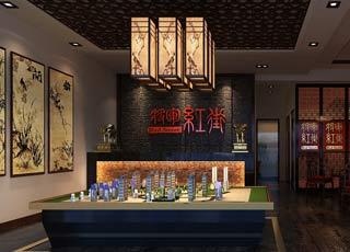 中式风格公装店面展厅临时售楼处设计案例效果图赏析