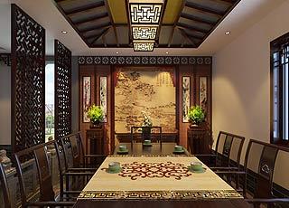 中式风格私人会所装修案例—闻一抹清香留一刻永恒