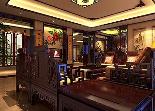 北京湾别墅古典风格装修案例图―帝都别样情怀