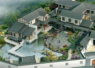 园林式别墅中式装修设计,新古典的江南人家