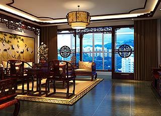 中式风格鄂尔多斯精品住宅装修案例—贵气逼人尽显大家风范