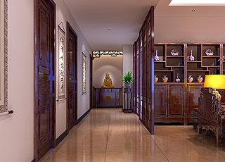 普通住宅中式风格装修效果图 彰显淡淡的中式风味