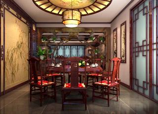 赏析中式设计的复式家装效果图感受传统意蕴