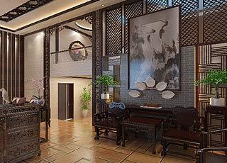 别墅现代中式风格装修案例图—祥和宁静栖居